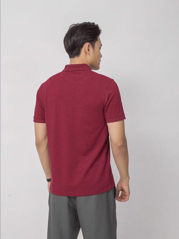 áo thun polo nam đồng phục vải CVC màu đỏ đô