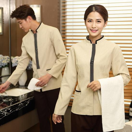 may đồng phục nhân viên phục vụ buồng khách sạn quận 10