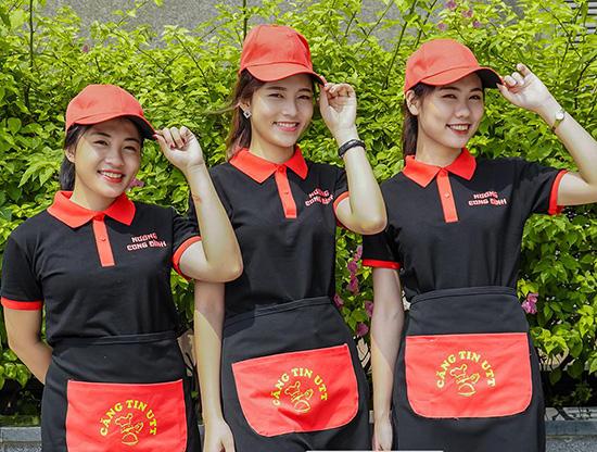 may đồng phục nhân viên nhà hàng giá rẻ